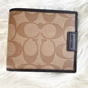 COACH Signature Coated Canvas Wallet